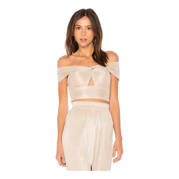 ALICE MCCALL Le Girl Cropped Top - 85% poly 15% metal. Dry clean only. Knotted neckline...