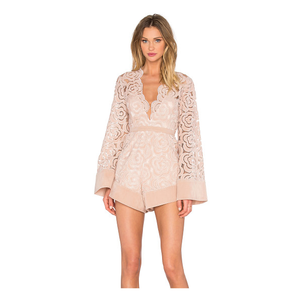 ALICE MCCALL My One And Only Playsuit - Poly blend. Partially lined. Scalloped trim. Faux suede...