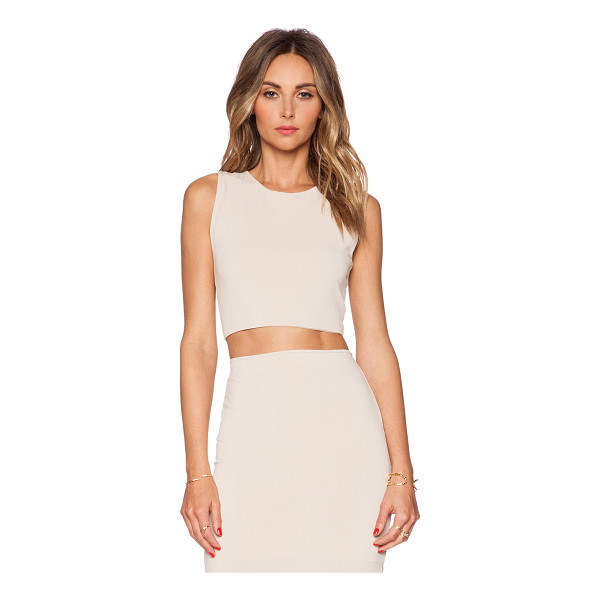 ALICE + OLIVIA Crop tank - Viscose blend. Back cut-out with twist detail. Exposed back...