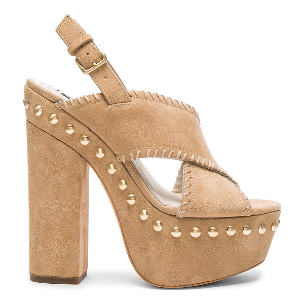 ALICE + OLIVIA Giana heel - Suede upper with leather sole. Ankle strap with buckle...