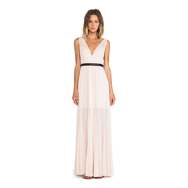 ALICE + OLIVIA Kendrick pleated maxi dress - Shell: 100% polyCombo: 100% lamb leatherLining: 97% poly 3%...