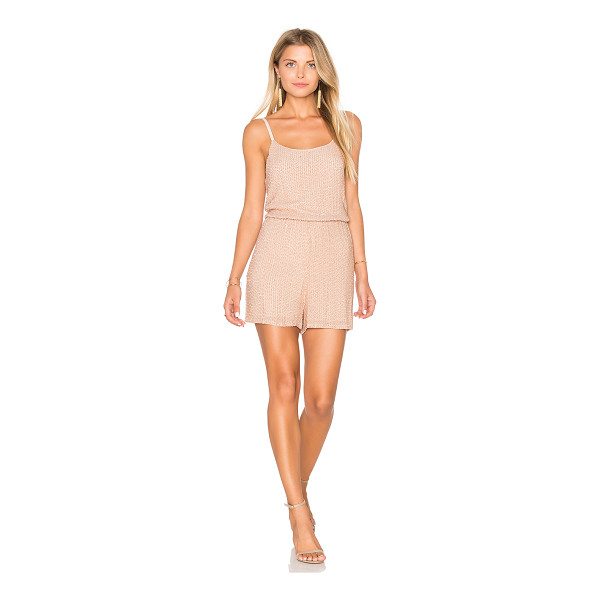 ALICE + OLIVIA Mika Romper - Self: 100% silkLining: 95% poly 5% elastane. Dry clean...