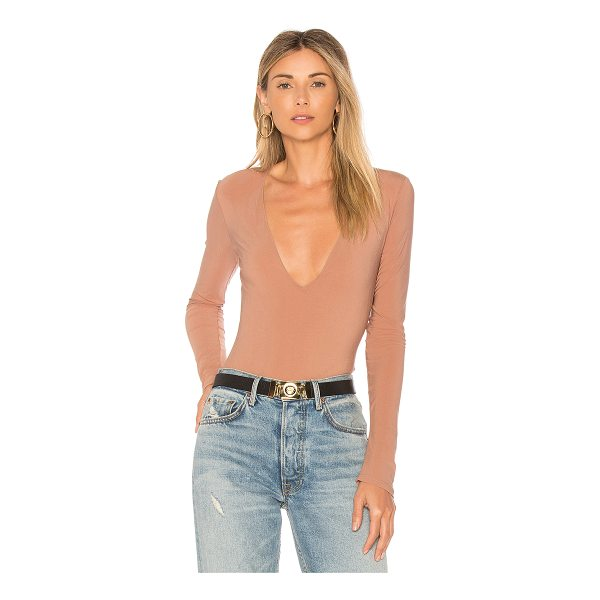 ALIX Irving Scoop Neck Bodysuit - Self: 73% polyamide 27% elastaneContrast: 78% polyamide 22%...