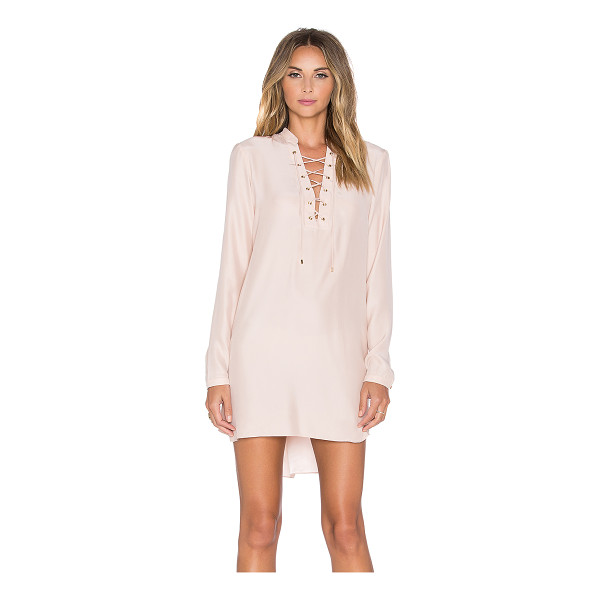 AMANDA UPRICHARD Ivy long sleeve dress - 100% silk. Dry clean only. Unlined. Front lace-up detail....