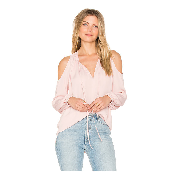 AMANDA UPRICHARD Katherine Top - Poly blend. Dry clean only. Neckline keyhole with tie...