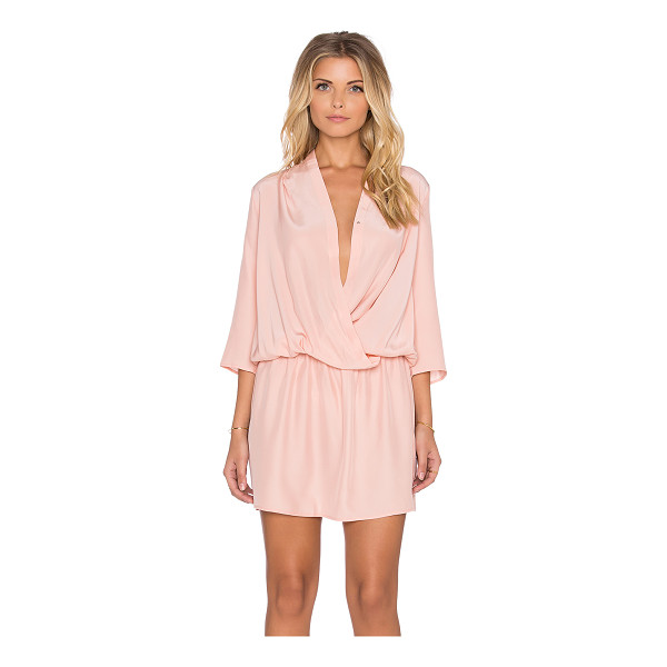 AMANDA UPRICHARD Paloma Dress - 100% silk. Dry clean only. Unlined. Wrap front with button...
