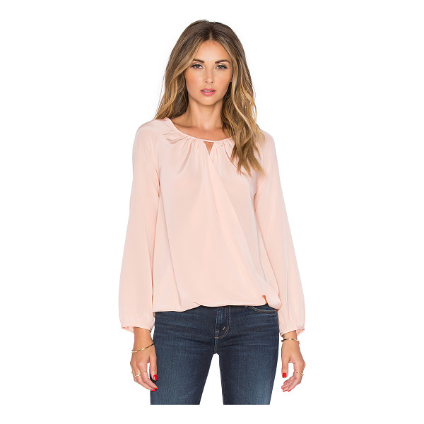 AMANDA UPRICHARD Peasant top - 100% silk. Dry clean only. Shirred neckline with keyhole...