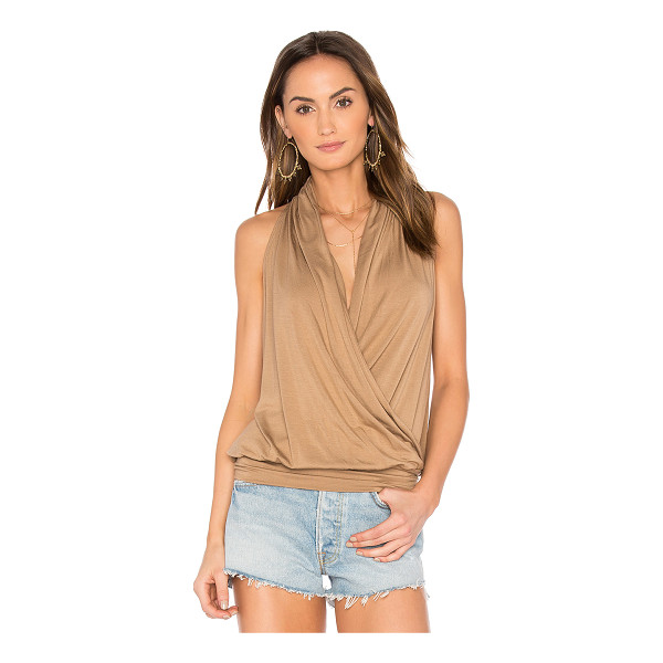 AMOUR VERT Agnes Tank - 94% modal 6% spandex. Jersey knit fabric. Crossover front....