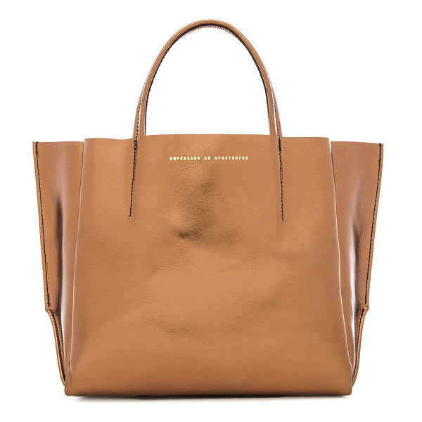 AMPERSAND AS APOSTROPHE Half tote - Leather exterior with raw leather lining. Measures approx...