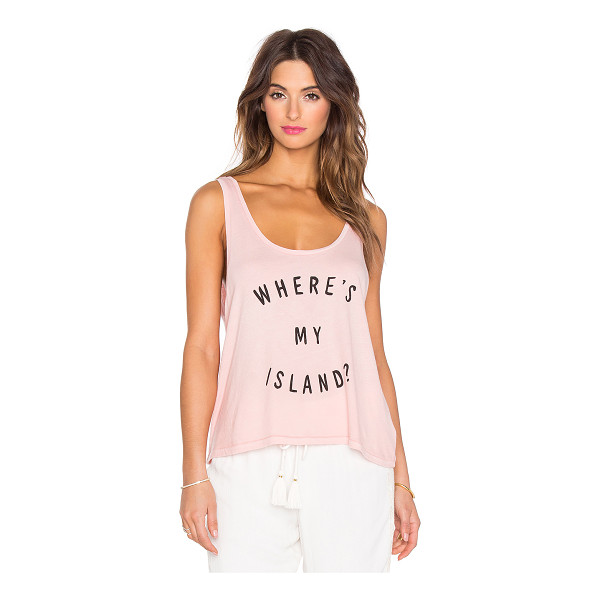 AMUSE SOCIETY Wheres my island tank - 100% cotton. Hand wash cold. Front screen print graphic....