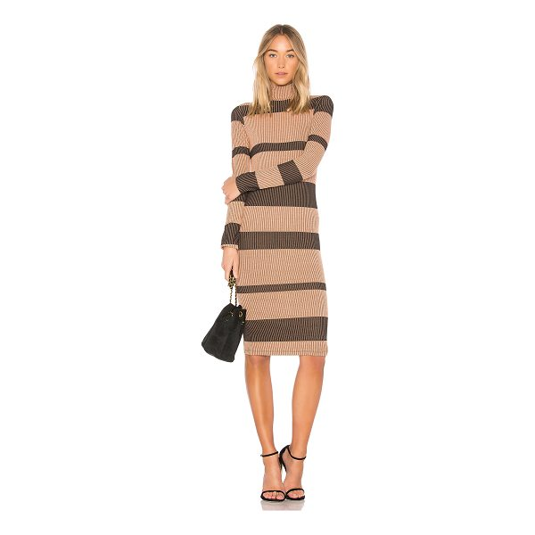 ANIMALE Rib Sweater Dress - 55% poly 37.5% viscose 7.5% spandex. Hand wash cold....