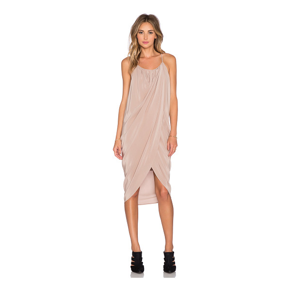 ANINE BING Wrap Dress - 100% silk. Dry clean only. Lined. Front wrap detail....