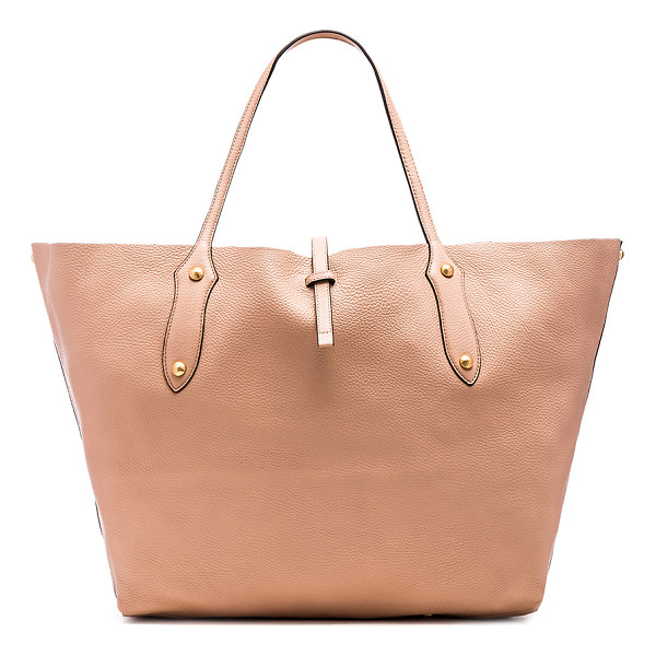 ANNABEL INGALL Isabella Large Tote Bag - Leather exterior with raw leather lining. Strap latch...