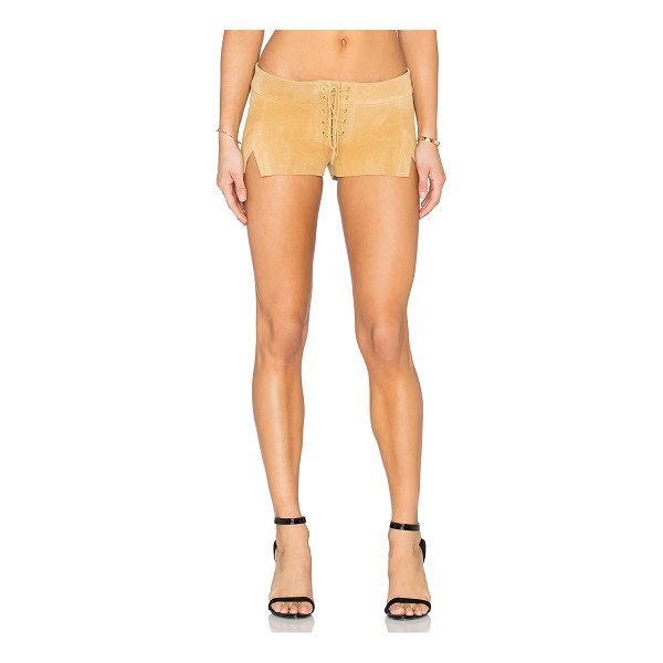 ARE YOU AM I Cuyler suede short - Shell: 100% suedeLining: 100% silk. Professional leather...