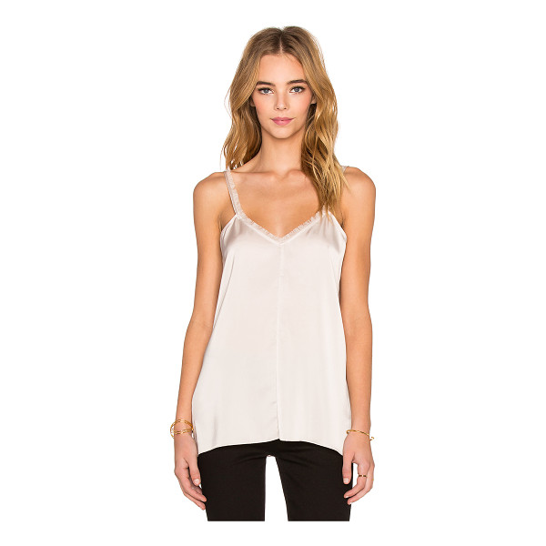 ATM ANTHONY THOMAS MELILLO Fringe tank - 60% triacetate 40% rayon. Hand wash cold. ATMA-WS65. AW5052...