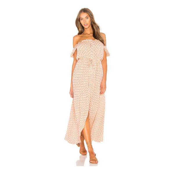 """AUGUSTE Leila Button Down Day Dress - """"100% rayon. Hand wash cold. Unlined. Elasticized neckline...."""