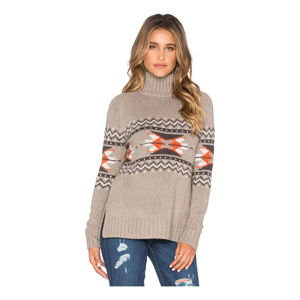 AUTUMN CASHMERE Fairisle mockneck sweater - 30% cashmere 30% viscose 20% polyamide 20% wool. Dry clean...