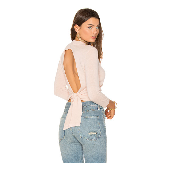 AUTUMN CASHMERE Tie Back Crop Sweater - 100% cashmere. Dry clean only. Back cut-out with tie...
