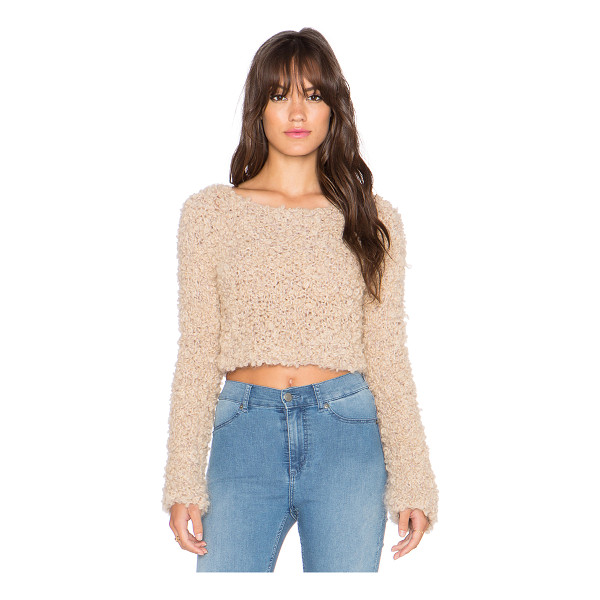 AYNI Citrino boucle crop sweater - 100% alpaca. Dry clean only. AYNR-WK2. CITRINO. Created out...