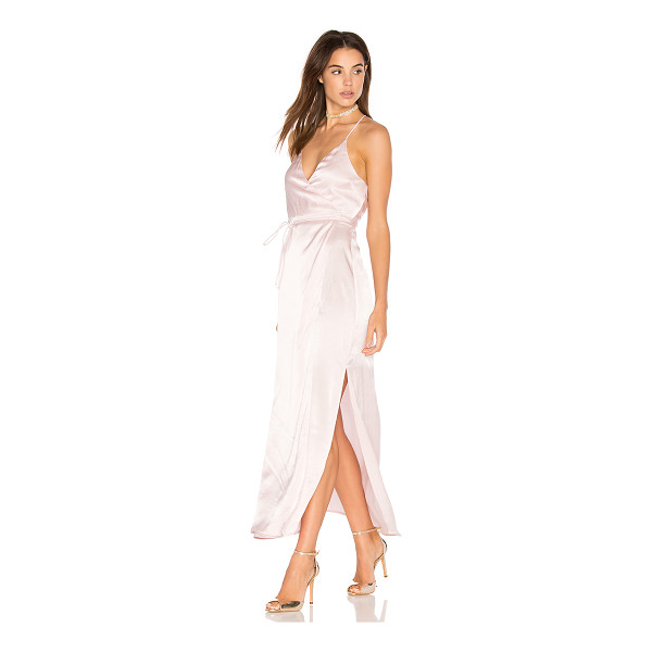 BACKSTAGE Venice Dress - 100% viscose. Hand wash cold. Unlined. Wrap front with tie...