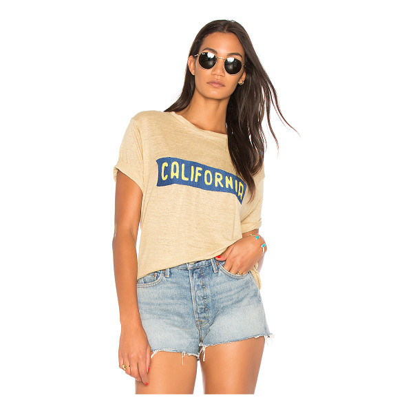 BANNER DAY California Plate Tee - 100% linen. Dry clean only. Embroidered front graphic....