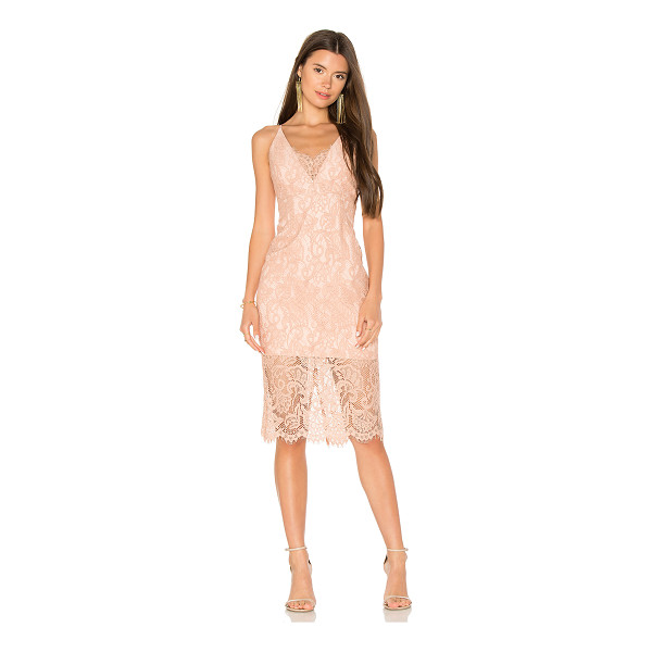 BARDOT Pencil Lace Midi Dress - Self: 48% cotton 40% nylon 12% viscoseLining: 95% poly 5%...