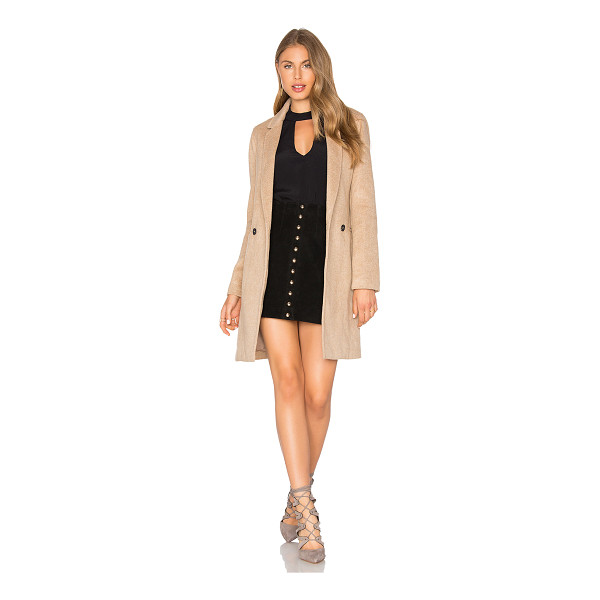 BARDOT Tash Coat - Wool blend. Dry clean only. Front button closure. Side welt...