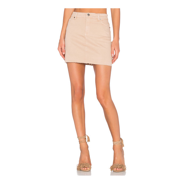 BARDOT Tusk Mini Skirt - 98% cotton 2% elastane. Unlined. Front slant pockets....