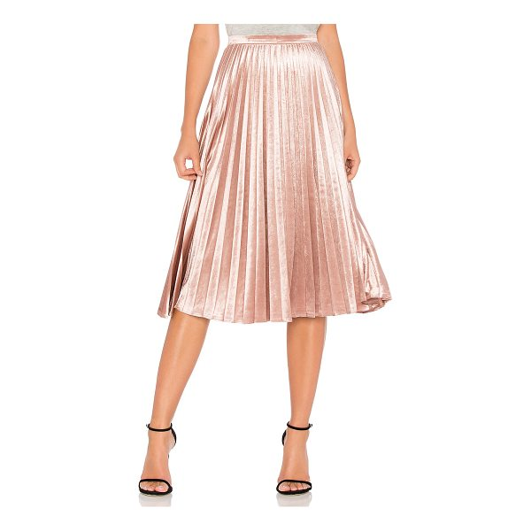 "BARDOT Velour Pleat Skirt - ""Poly blend. Hand wash cold. Unlined. Pleated detail...."