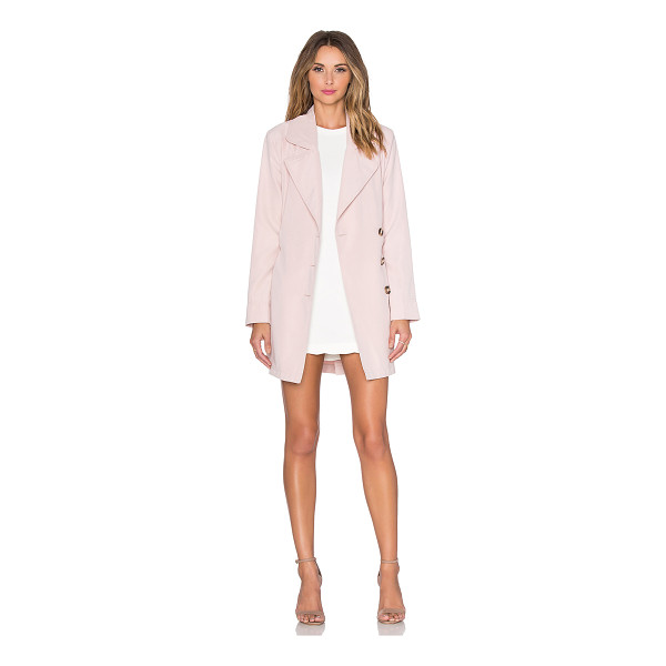 BB DAKOTA Jack by  monroe trench coat - Poly blend. Hand wash cold. Button front closure. Waist...