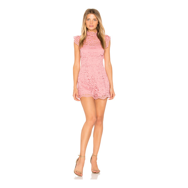 "BB DAKOTA Priscilla Romper - ""Poly blend. Dry clean only. Allover crochet lace fabric...."
