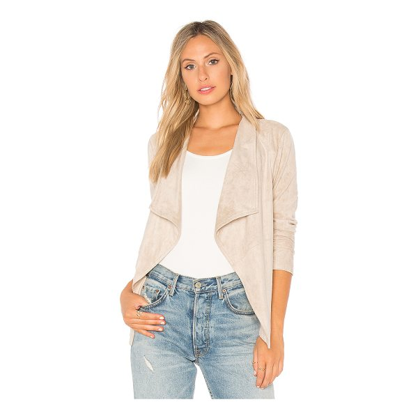 BB DAKOTA Wade Jacket - 90% poly 10% spandex. Dry clean only. Draped open front....