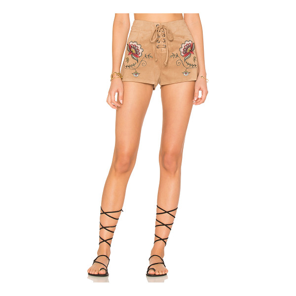 "BB DAKOTA X REVOLVE Brittain Short - ""Poly blend. Hand wash cold. Lace-up front with tie..."