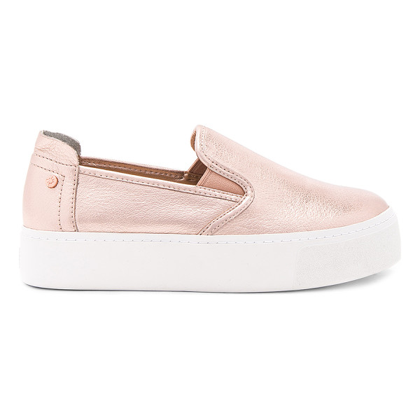 "BCBGENERATION Casey Sneaker - ""Metallic leather upper with rubber sole. Slip-on styling...."