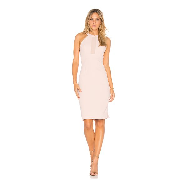 BCBGENERATION Contrast Dress - 100% poly. Partially lined. Sheer bodice insets. Back tie...