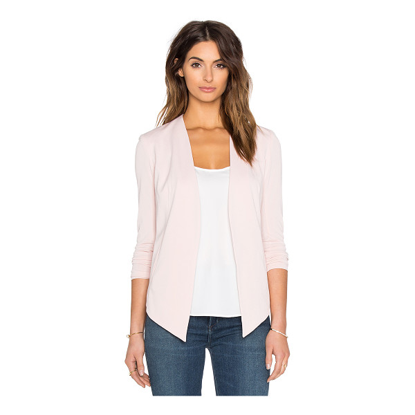 BCBGENERATION Drape Front Jacket - Self: 94% poly 6% spandexLining: 100% poly. Open front....