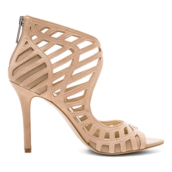 BCBGENERATION Drita Heel - Leather upper with man made sole. Back zip closure. Caged...