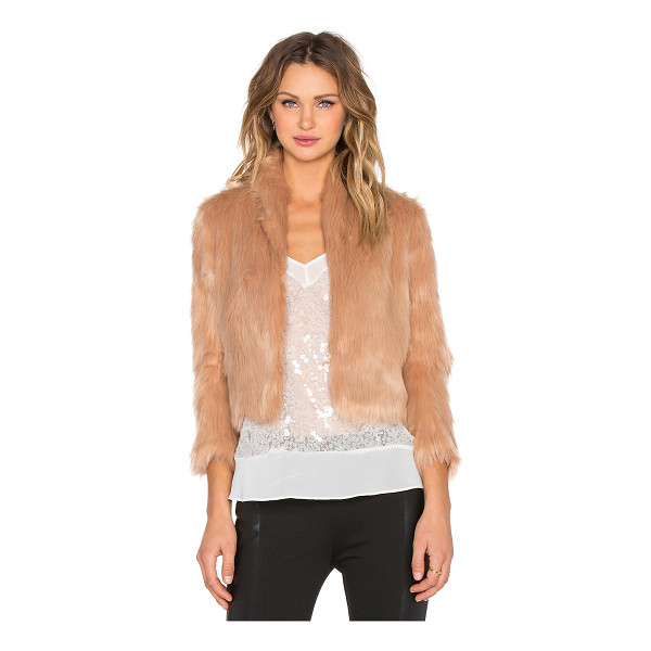 BCBGENERATION Faux fur jacket - Shell: 80% acrylic 20% polyLining: 100% poly. Hand wash...