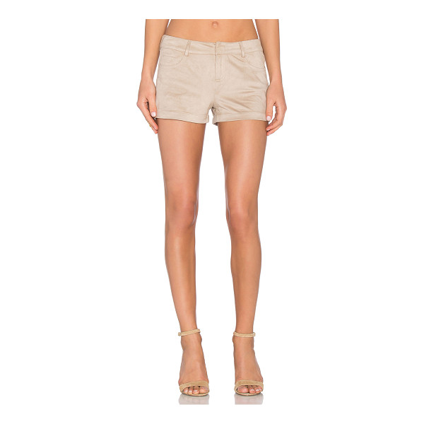 "BCBGENERATION Faux suede short - 100% poly. Faux suede. Shorts measure approx 10"""" in..."