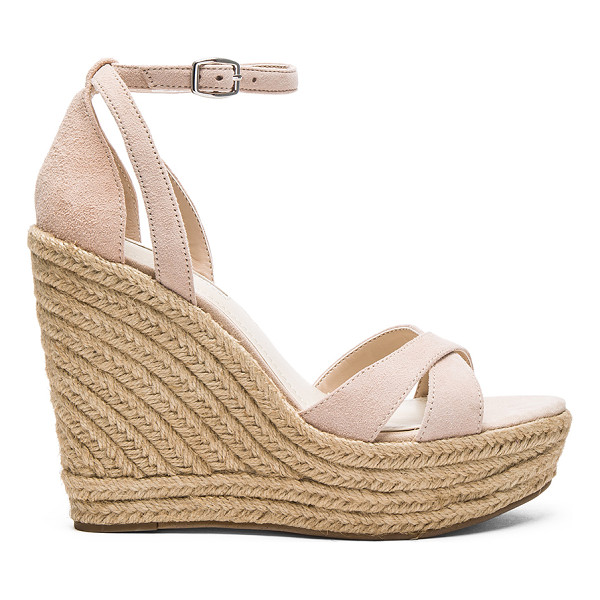 BCBGENERATION Holly Wedge - Suede upper with man made sole. Ankle strap with buckle...