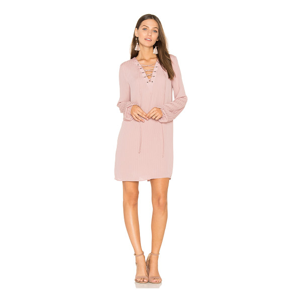 BCBGENERATION Lace Up Dress - Self & Lining: 100% poly. Fully lined. Front lace-up tie...