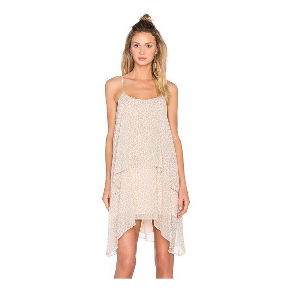 BCBGENERATION Layered Tank Dress - 100% poly. Unlined. Adjustable shoulder straps. Bustline to...