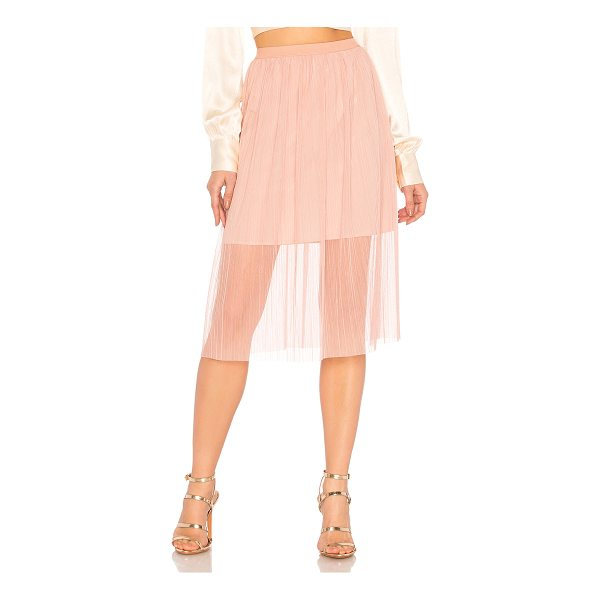 "BCBGENERATION Midi Skirt With Elastic In Rose Smoke - ""Self & Lining: 100% poly. Hand wash cold. Fully lined...."