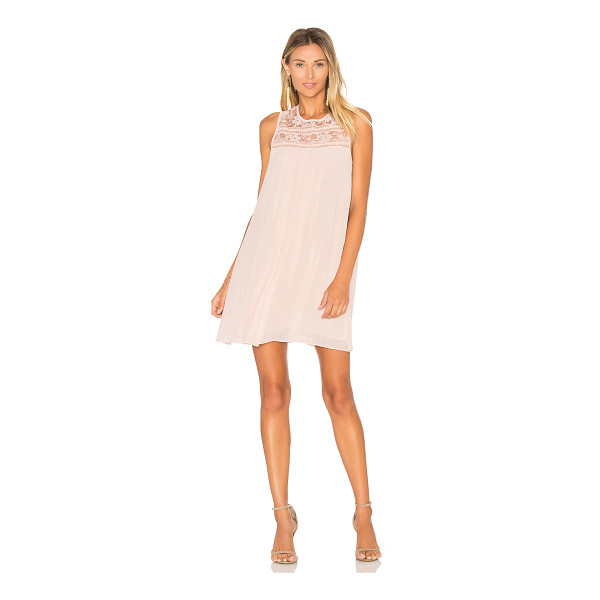 BCBGENERATION Mini Empire Dress - Self & Lining: 100% poly. Fully lined. Lace trim panel.
