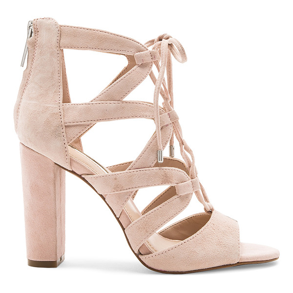 "BCBGENERATION Rameena Heel - ""Suede upper with man made sole. Back zip closure. Lace-up..."