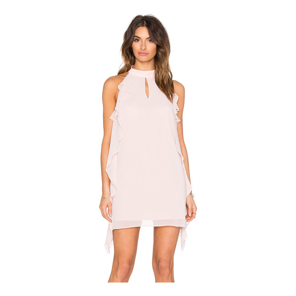 BCBGENERATION Ruffled Mini Dress - Self & Lining: 100% poly. Fully lined. Back keyhole with...