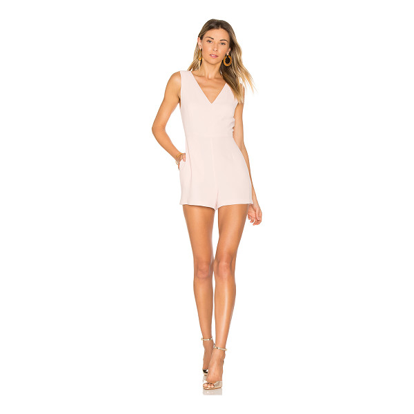 BCBGENERATION Simple V Romper - Self & Lining: 100% poly. Side seam pockets. Hidden back...