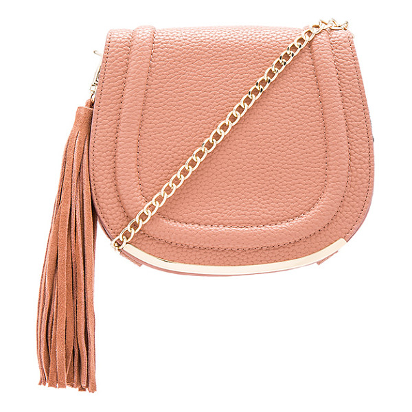 BCBGENERATION Tassel saddle bag - Faux leather exterior with poly fabric lining. Flap top...