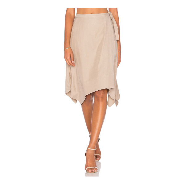 "BCBGMAXAZRIA Handkerchief Skirt - ""60% viscose 40% cotton. Unlined. Wrap front with tie..."