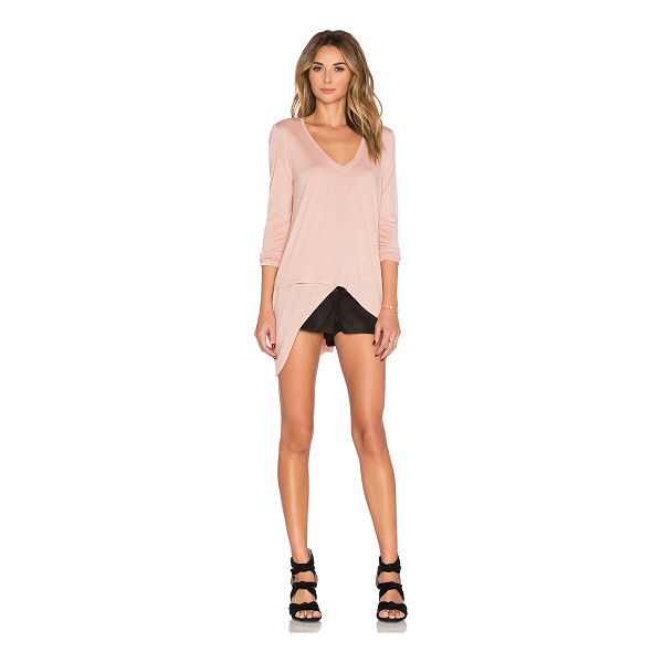 BCBGMAXAZRIA Long sleeve top - 100% rayon. Faux wrap detail. BCB-WS397. WCJ1W104. Founded...